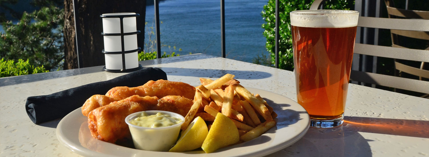 Fish and Chips on the terrace